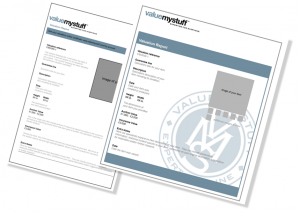value my stuff example certificates
